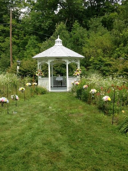 Gazebo with Wedding Flowers