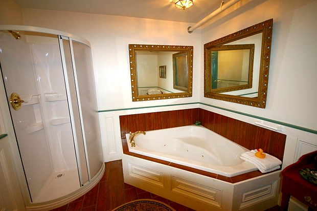 Suite 201 Shower and Whirlpool Tub