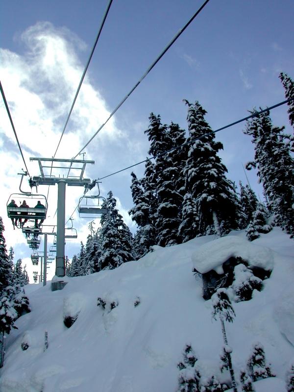 Ski Lift at Ski Area